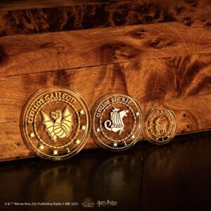 set 3 pièces Gallion d'or Mornille d'argent noise de bronze